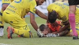 Serie A Chievo Sorrentino ko: frattura alle ossa nasali