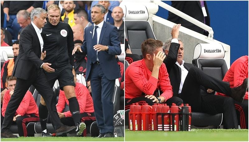 Lo United ne prende 3 dal Brighton: Mourinho urla e protesta