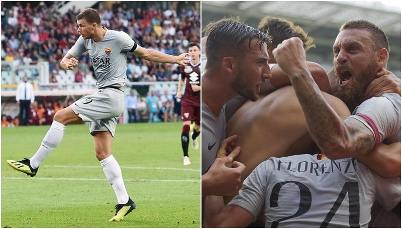 Torino-Roma, il gol capolavoro di Dzeko