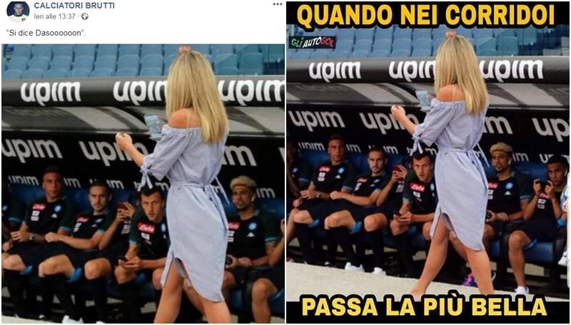 Diletta Leotta incanta il Napoli: la foto virale diventa un meme<br /> &nbsp;