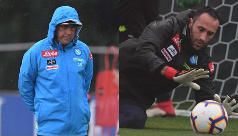 """Napoli, Ancelotti attende il """"suo"""" Milan e trova Ospina"""