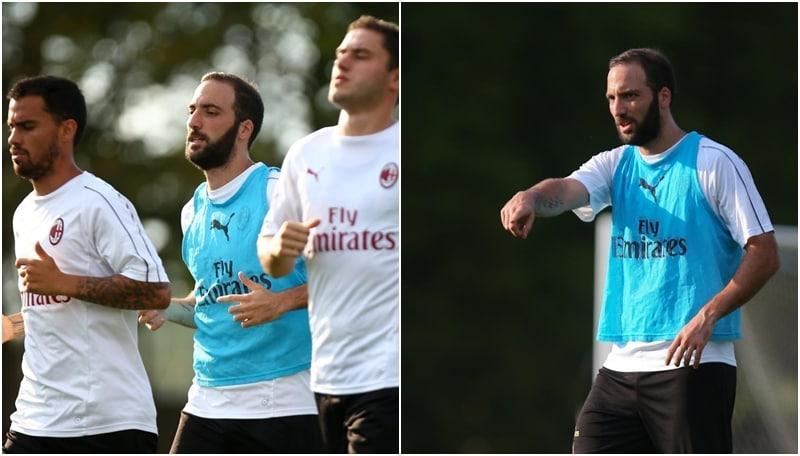 Higuain carica il Milan in vista dell'esordio col Napoli