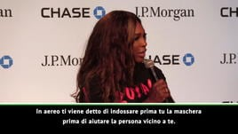 Serena Williams trattiene le lacrime in conferenza