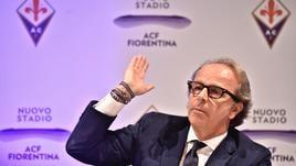 Andrea Della Valle visita la Fiorentina