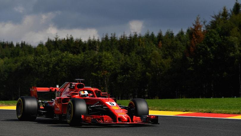 F1 Belgio, Libere 1: exploit Vettel, 4° Raikkonen