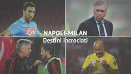 Napoli-Milan, destini incrociati
