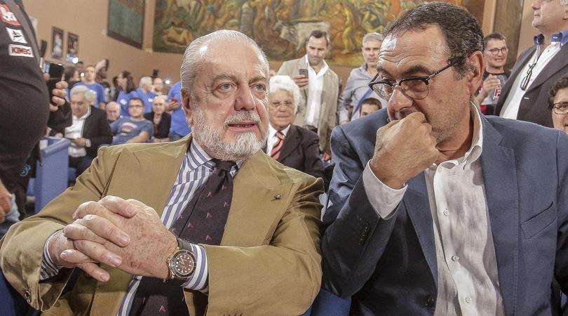 Napoli, De Laurentiis: «A Sarri ho dato tutto e non ho vinto niente»