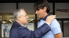 Lazio, Inzaghi: «Lotito? Confronto utile, poi ci siamo fatti una risata»