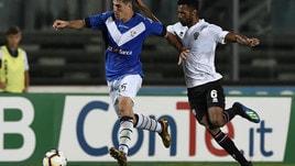 Serie B Brescia-Perugia 1-1. Vido replica a Bisoli in pieno recupero