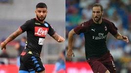 Diretta Napoli-Milan dalle 20.30, formazioni ufficiali e dove vederla in tv