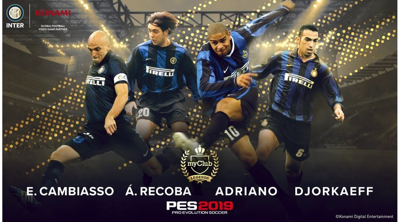 "PES lancia le Inter Legends, torna Adriano ""99"""