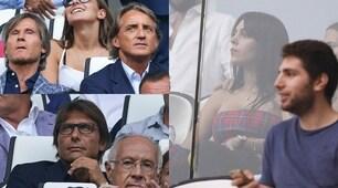 Georgina, Conte e Mancini allo Stadium