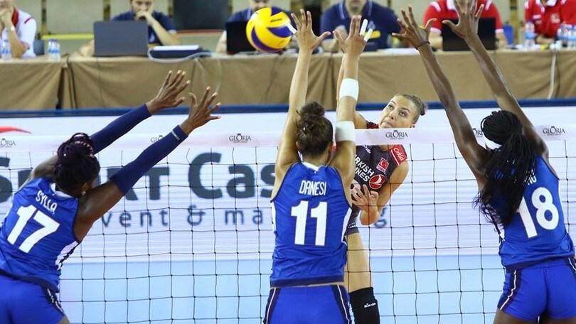 Volley: Gloria Cup, le azzurre cedono anche alla Turchia