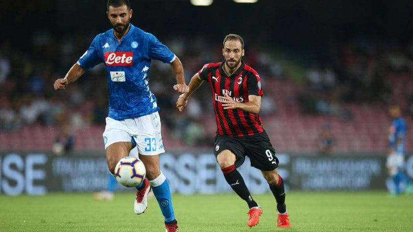 Serie A Napoli-Milan 3-2, il tabellino