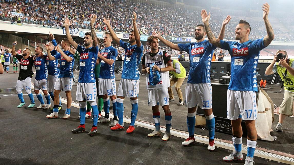 Grande festa per la vittoria in rimonta 3-2 sul Milan