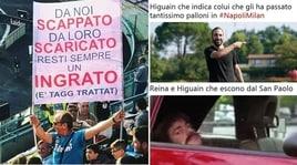 Napoli-Milan, Higuain a secco al San Paolo: l'ironia del web