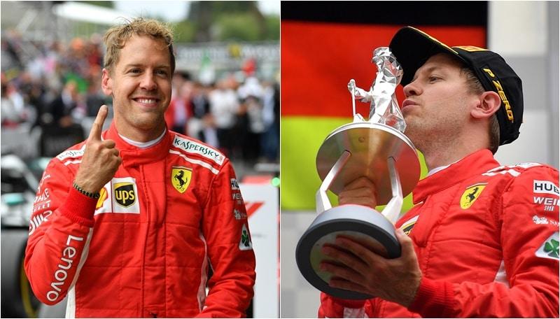 F1, Spa si tinge di rosso: Vettel fa festa sul podio