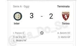 L'Inter pareggia con il Torino: i social scatenati