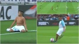 Marsiglia, il baby tifoso non resiste alla tentazione: gol e festa sotto la curva