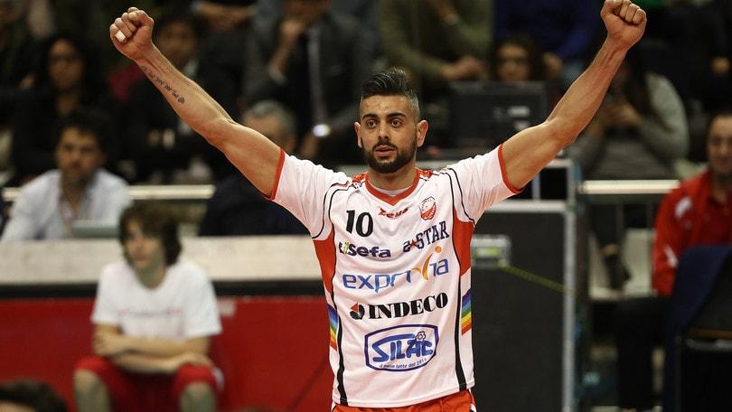 Volley: Giulio Sabbi si allena con Padova