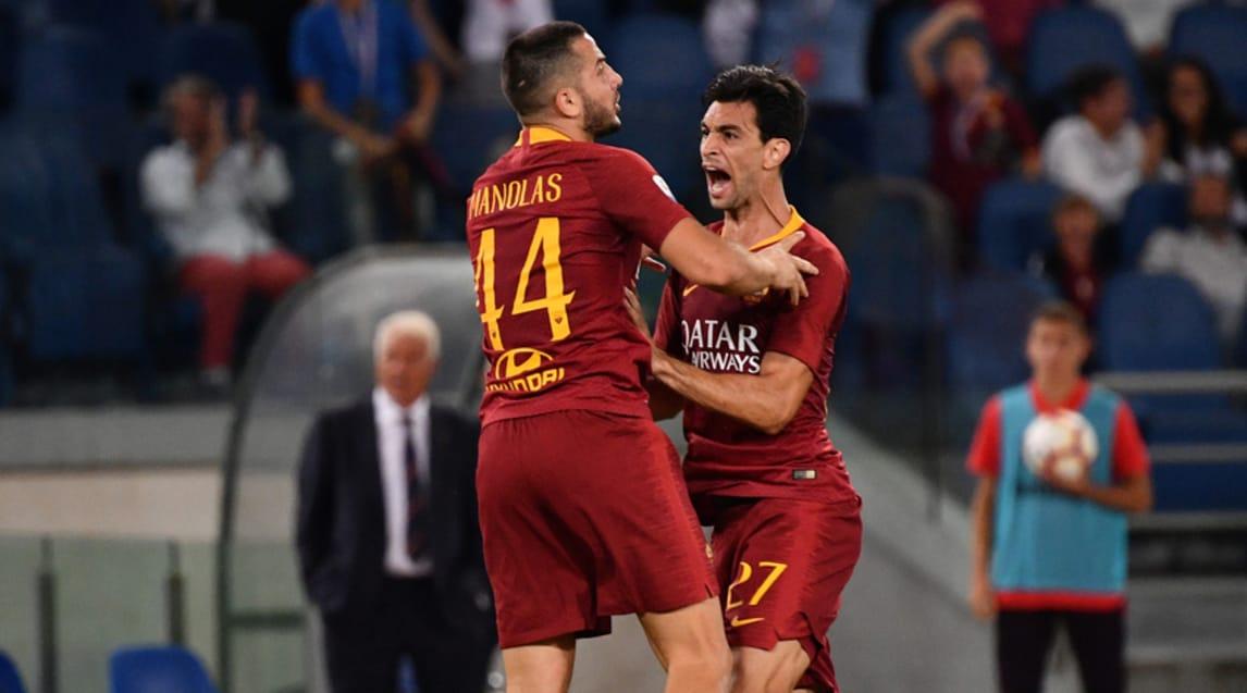Finisce 3-3: in gol Pastore, Castagne, Rigoni (doppietta), Florenzi e Manolas