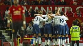 Manchester United-Tottenham 0-3: Lucas Moura e Kane calano il tris. Per Mourinho è crisi nera