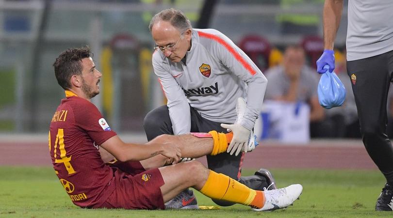 Roma, sollievo Florenzi: nessuna lesione al ginocchio