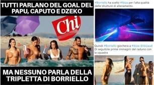 Il bomber Borriello va a giocare a Ibiza, social scatenati:«Maestro di vita»