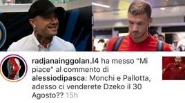 Roma, Nainggolan mette like al commento di un tifoso: «Ora vendete anche Dzeko?»