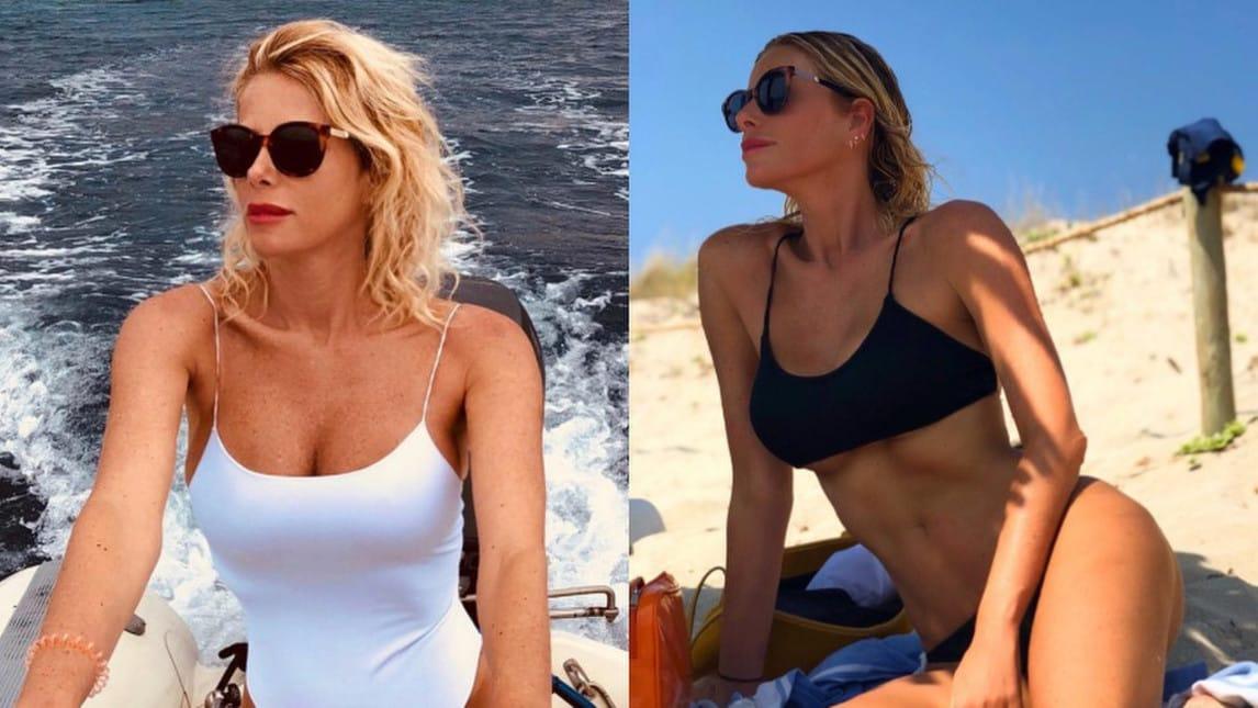 <p>La showgirl, in vacanza con la famiglia nella nota localit&agrave; balneare delle Baleari, incanta i fan con le sue foto sui social</p>