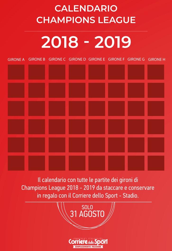 Calendario Champions League 2018-2019