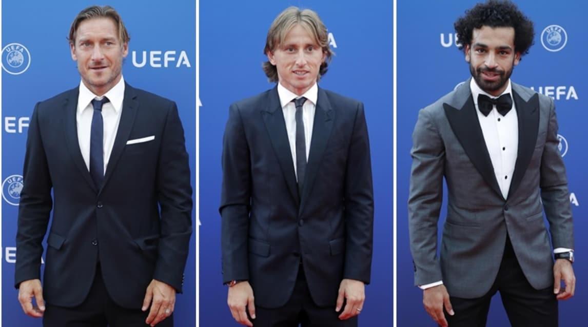Tante stelle del calcio per la cerimonia dei sorteggi dei gironi di Champions League