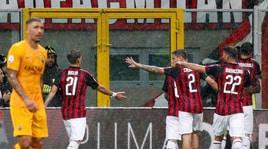 Milan-Roma 2-1: Fazio risponde a Kessie ma Cutrone la decide al 95'