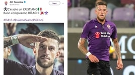 Fiorentina, sfottò alla Juventus: «C'è solo un Cristiano»