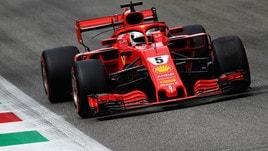 F1 Monza, Libere 3: Vettel vola, Hamilton insegue