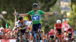 Vuelta, Valverde vincel'8ª tappa e accorcia sul leader Molard