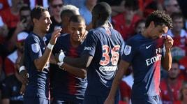 Ligue 1, il Psg avvisa il Napoli: 4-2 in casa delNîmes