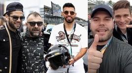 Agüero, Elkann e gli attori di Gomorra: tutti a Monza!