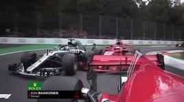 Monza, contatto al via fra Vettel e Hamilton