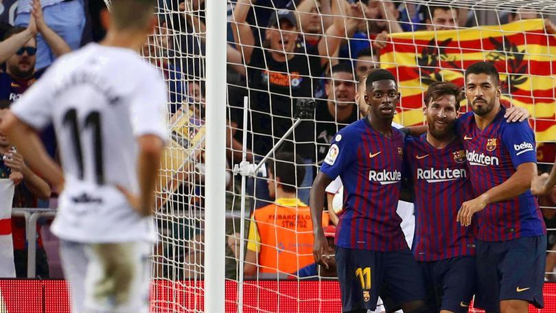 Barça maramaldo, l'Huesca ne prende otto