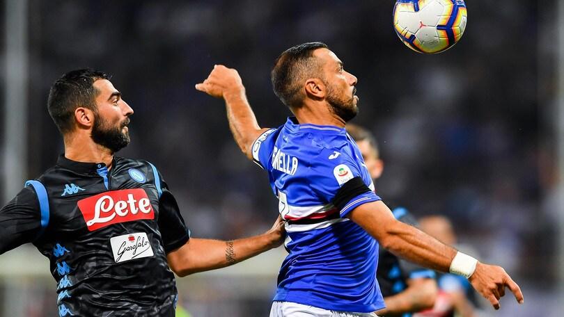 Serie A Sampdoria-Napoli 3-0, il tabellino