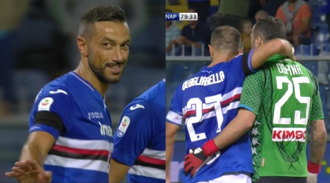 Dopo il gol del 3-0 durante Sampdoria-Napoli, segnato con un fantastico colpo di tacco al volo, l'attaccante blucerchiato ha chiesto scusa al numero