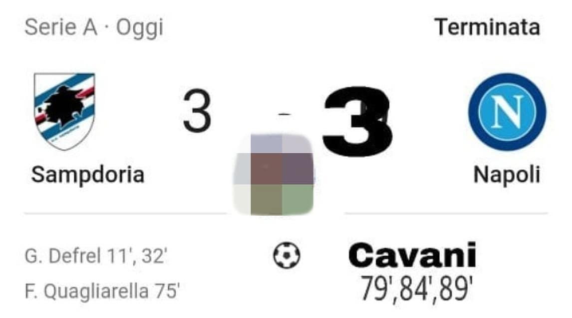 La doppietta di Defrel e lo straordinario colpo di tacco di Quagliarella: l'ironia del web mette al tappeto la squadra di Ancelotti