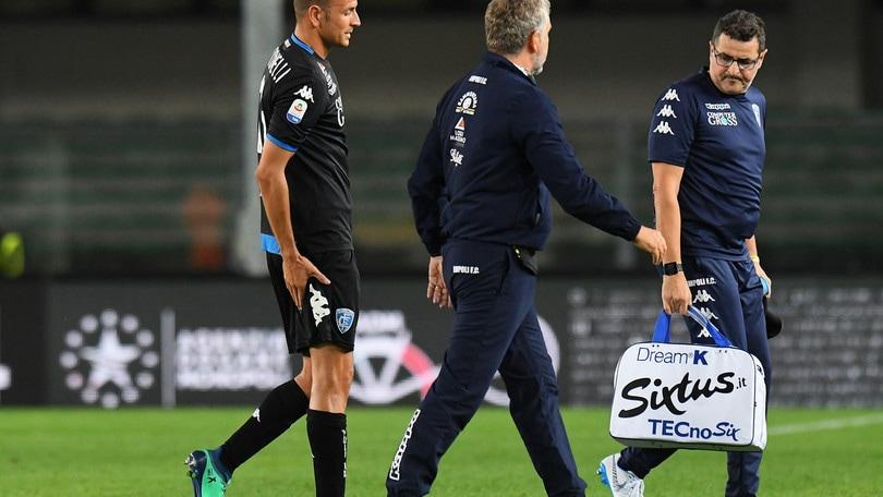 Serie A Empoli, lesione distrattiva al bicipite femorale per Antonelli