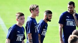 L'Italia a Coverciano: primo allenamento per Zaniolo