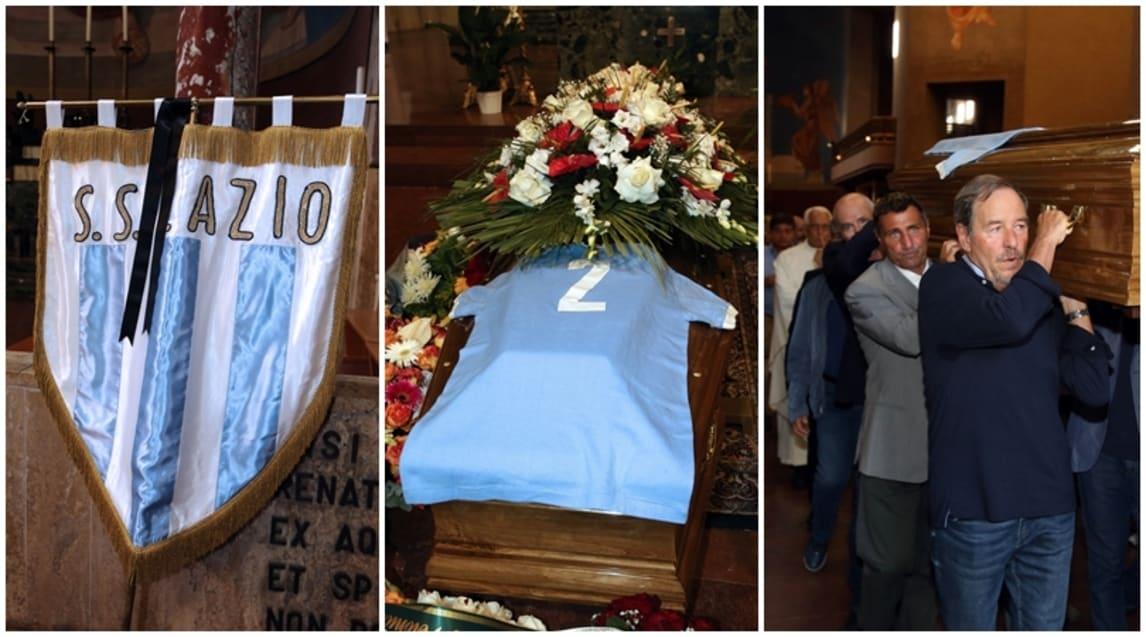 Le immagini dei funerali di uno degli eroi della squadra Campione d'Italia 1973/1974