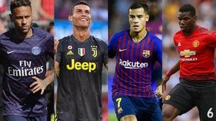 Quali club hanno speso di più sul mercato? La top 20 degli ultimi 9 anni