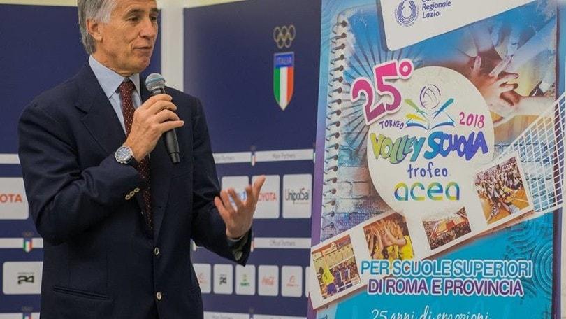 Volley: Malagò: « Il Mondiale di volley a Roma un evento straordinario »