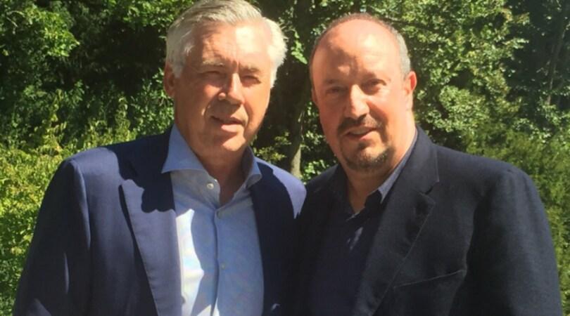 Ancelotti e Benitez, incontro al Forum Uefa di Nyon