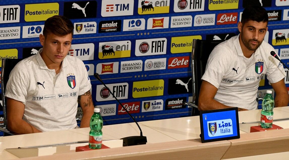 I due centrocampisti di Fiorentina e Cagliari in conferenza stampa dal ritiro azzurro